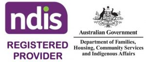 NDIS & Department of Families, Housing, Community Services & Indifenous Affairs Logos